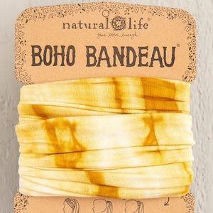Natural Life Gold Tonal Tie-Dye Boho Bandeau NWT